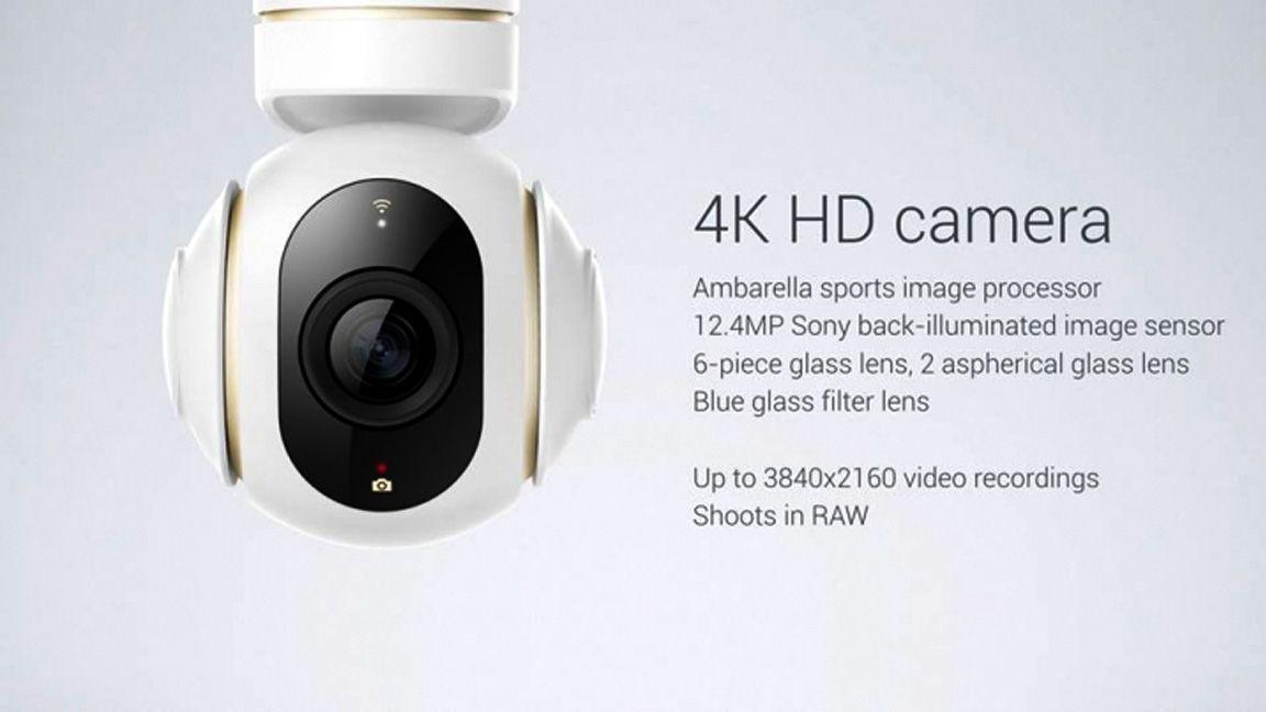 The Mi Drone's built-in camera