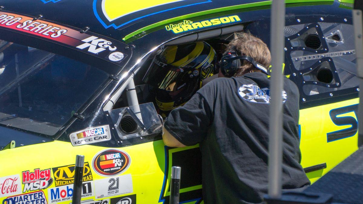 NASCAR pit lane