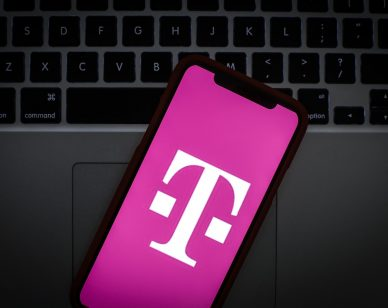 The T-Mobile logo is seen on a portable mobile device in this photo illustration on January 22, 2019. (Photo by Jaap Arriens/NurPhoto via Getty Images)